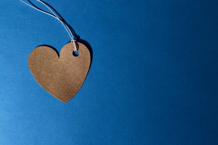brown heart cutout decor